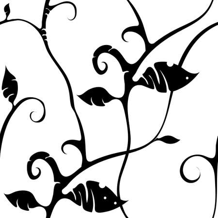 Stylish black and white seamless pattern for the design of textiles, paper.