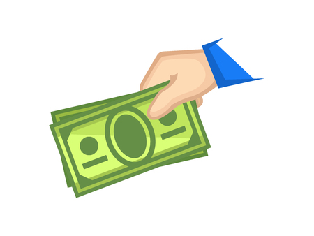 Icon cash payment Illustration
