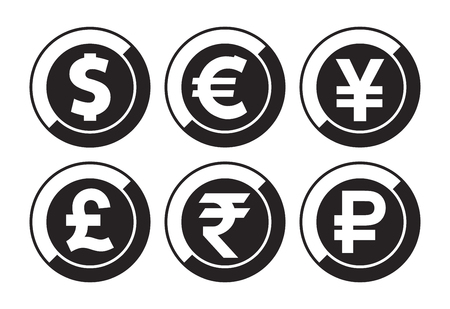 Currency vector icons