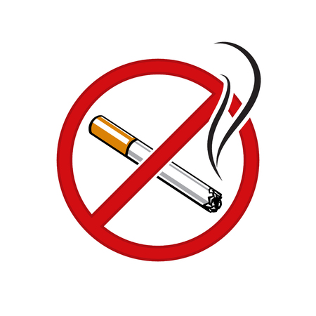 No Smoking sign Vector illustration isolated on white background.