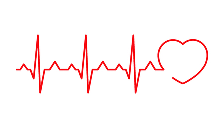 Cardiogram Vector illustration isolated on white background.