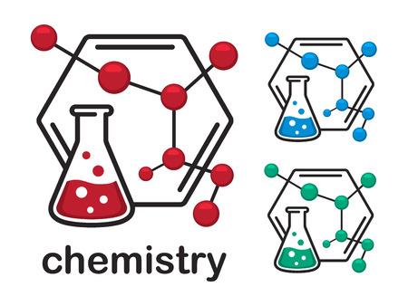 Chemistry icon vector illustration.