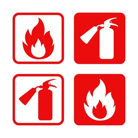 Pegatinas de seguridad contra incendios.