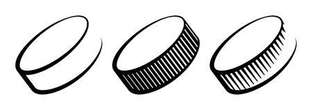 Hockey pucks icons