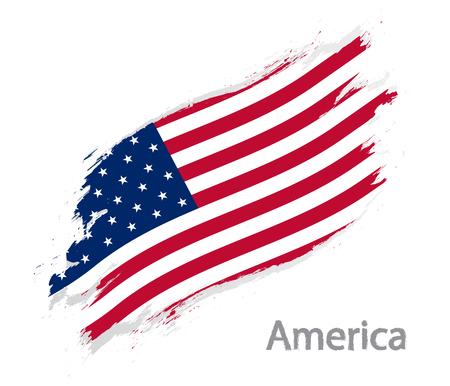 Flag of America illustration.