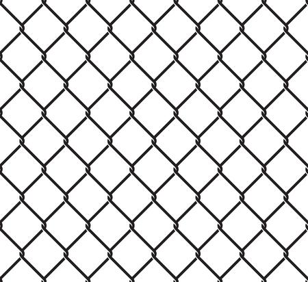 Rabitz grid seamless pattern on white background illustration. Vectores