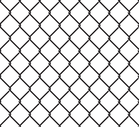 Rabitz grid seamless pattern on white background illustration. Illustration