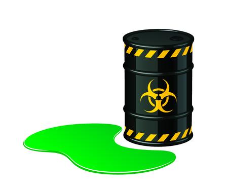 Bio hazard waste vector illustration isolated on white background