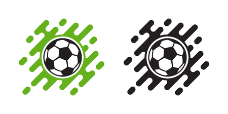Soccer ball vector icon isolated on white background. Football ball icon