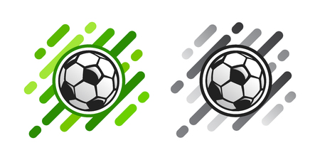 Soccer ball vector icon on abstract background. Football ball vector icon. Soccer