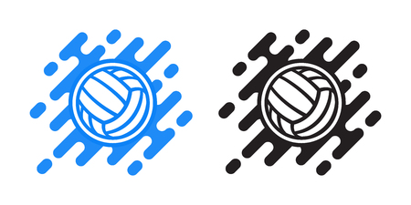 Volleyball ball vector icon isolated on white. Water polo ball vector icon. Sport logo.