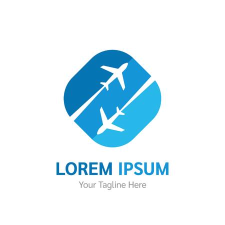 Airlines, travel or logistics companys vector logo, icon, symbol. Airplane icon. Travel logo