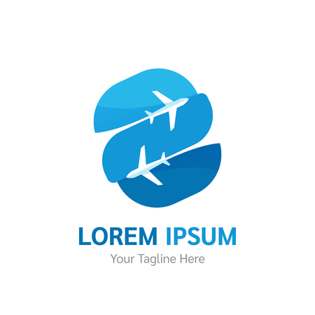 Vector Airline logotype. Travel agency, tourism app, flight logo. Air company logo design vector template.