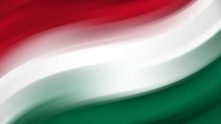 Abstract Hungary national flag. Flag of Hungary. Background