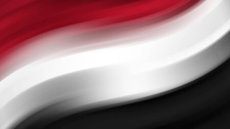 Abstract Yemen national flag. Flag of Yemen. Background