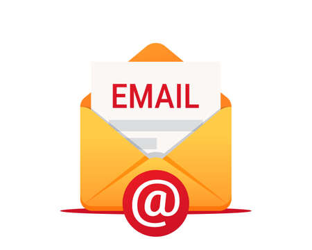 Email vector icon. Envelope with email. Email message, Infographic, Working process, Searching mail, New incoming message, Mail sending. New email message