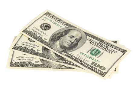 denomination: Three hundred dollars isolated on white background