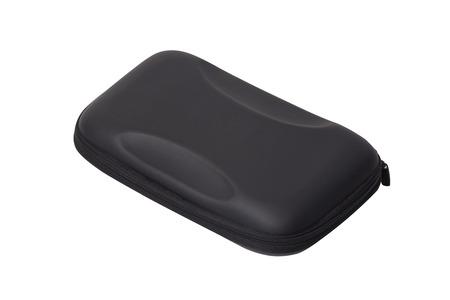 cd case: Black CD case isolated on white background