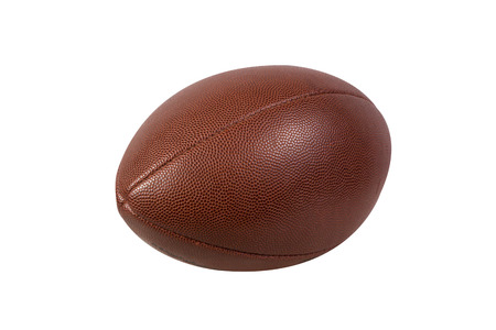 professional football: American football ball isolated on white background