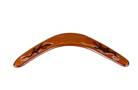 Australian boomerang gift isolated on white background photo