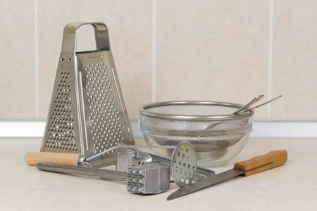 housewares: Housewares standing on the kitchen desk