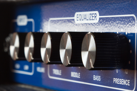 amp: The Equalizer settings on the amp