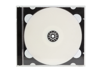 cd case: CD case with blank DVD disc isolated on white