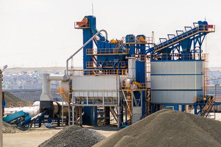 equipment for production of asphalt, cement and concrete. Concrete plant