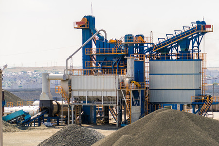 equipment for production of asphalt, cement and concrete. Concrete plant