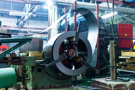 Metal round roll of galvanized stainless steel sheet, industrial metalwork machinery manufacturing