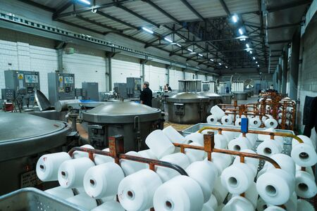 Modern technology in dyeing yarns with Machines for Textile Industry, Dyeing Machine Chemical Tanks