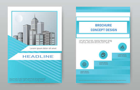 Design cover brochure, layout, flyer, template with the image of the city.