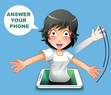 Answer your phone. Banco de Imagens - 122756641