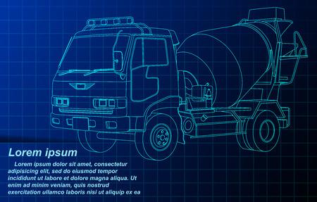 estructura metálica de camión de cemento.