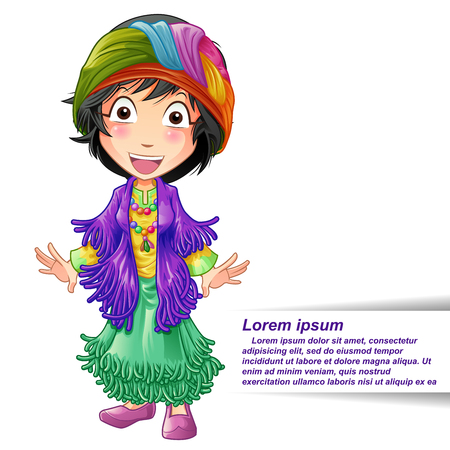 Fortune teller character in cartoon style.