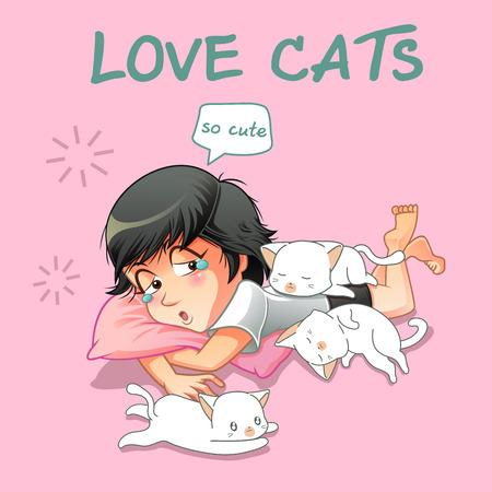 She love little cats.