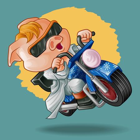 Rider pig.
