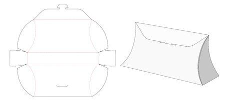 Paper packaging bag die cut template