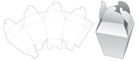 Wheel lock packaging box die cut template