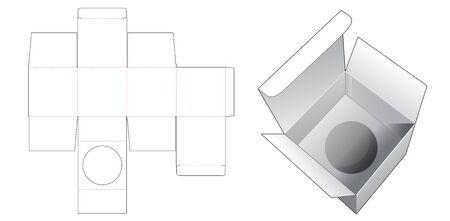 Box with insert die cut template Illusztráció