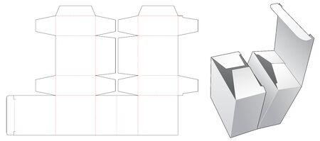Double box die cut template