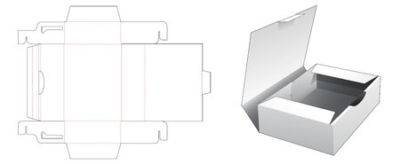 1 piece cake container box die cut template