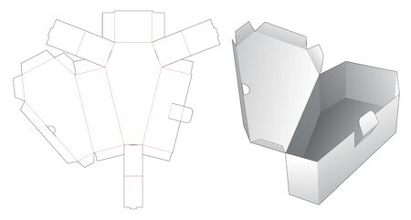 1 piece coffin box die cut template Illusztráció