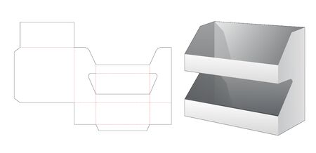 2 layers product display die cut template