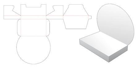 Cardboard product display die cut template