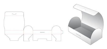 Chest shaped snack box die cut template Illusztráció