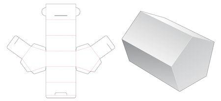 Pentagonal packaging die cut template