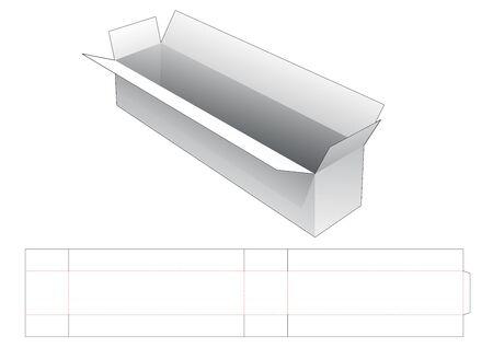 Long shipping box die cut template Illusztráció