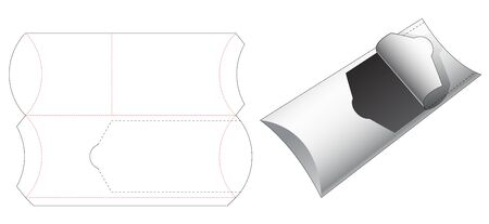 Snack packaging with zipper die cut template