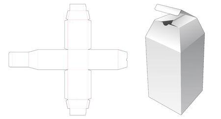 Bottle packaging box die cut template
